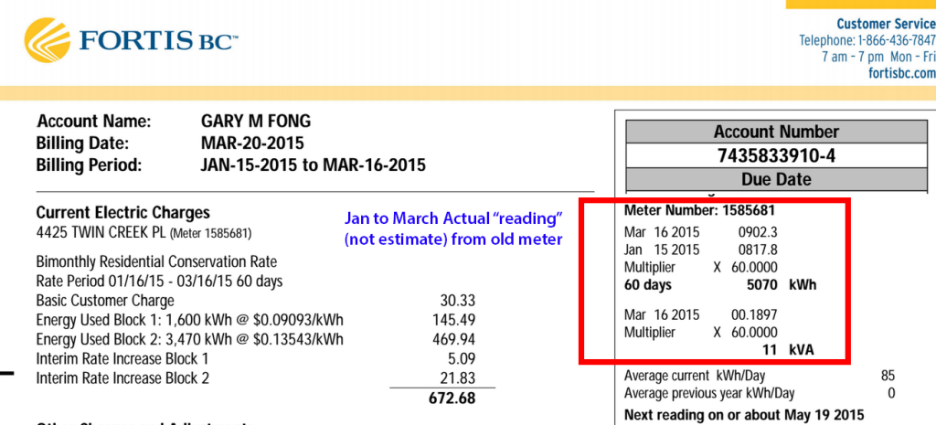 Fortis Electric Bill